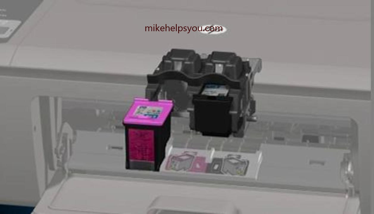 Installation and alignment of the ink cartridges